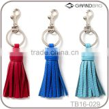 Leather Tassel Keychain Gold Plated Keyring Bag Charm ,leather tassel manufacturer
