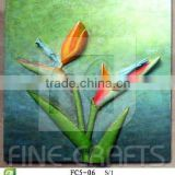 Resin bird of paradise wall art plaque