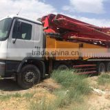 Year 2012 Sany made 52m concrete pump truck used condition Sany 52m pump truck second hand sany 52m truck for sale