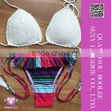 Hot selling Sexy Crochet Brazilian Bikini Swimwear Handmade Halter Top Bathing Suit