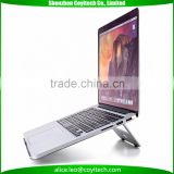 Portable foldable aluminum alloy laptop stand holder for macbook