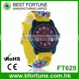 FT629 ODM logo children cartoon cute analog quartz plastic watch