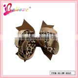 Fashion leopard pattern korean fashion girls luxurious hair accessories multilayers ribbon bow hair clip (DW--0025)