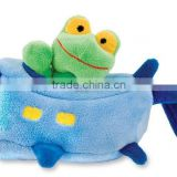 Adorable Plush Travel Animal Toys /Stuffed Toy Removable Frog in Plane/Soft Comfy Doll Baby Toy