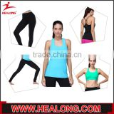 Lady compression gym clothes custom fitness wear