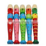 Wooden Plastic Kid Piccolo Flute Musical Instrument Early Education Toy