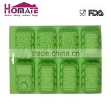manufacturer in china 6 cavity silicone cake mold chocolate decorating mold in train shapeSilicone 6-cup train cake mould
