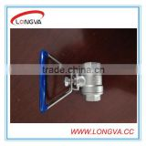 Stainless Steel Two Pieces Water Ball Valve with oval handle