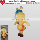 Yellow inflatable bee moving cartoon