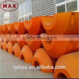 PU foam filled plastic floating buoy used to float dredging pipeline