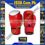 Topten Boxing Gloves made of cow hide leather with punch target