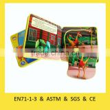 Customized High Quality EVA foam puzzle book printing animal preschool educational learning