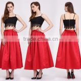 wholesale western satin table skirt style girls fancy long skirts