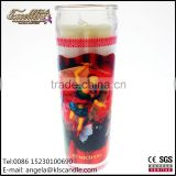 long time burning 7 day burning religious votive glass candle