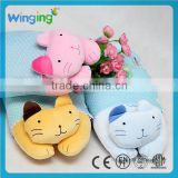 Alibaba factory Cute cheap plush baby flat head pillow baby plush toys