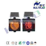 Hot product kutuo 300mm solar road safety blinker traffic signal light with factory price