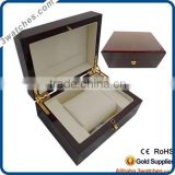 manufacturer customize luxury watch box wooden watch case square wood with veneer watch box