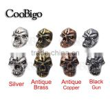 Charm Metal Skull Beads For Paracord Bracelet Knife Lanyards Jewelry Making Accessories #FLQ076-S/BR/B/AC                                                                         Quality Choice