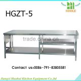 stainless steel hammered metal table kitchen working table