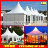 10X10 White Waterproof PVC Square Pagoda gazebo canopy Tents in big tent price