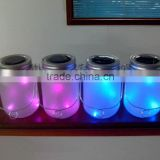 Fancy pink and blue glow frosted glass solar led jars for outdoor decor or night lighting