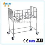 BS - 615 Mobile Stainless Steel Hospital Baby Cot