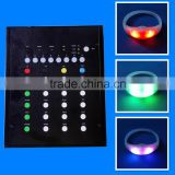 Supply Concert Products Remote Control 7 Colors Flashing Silicone LED Wristbands