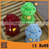 2015 Promotion Poppas BS10 Colorful candle holder Plastic christmas decorative led hurricane lantern