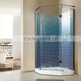 Foshan Lelin aluminum alloy bath shower enclosure cabin vanity with 6mm tempered glass JC-25