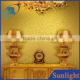 Classical gold foil wallpaper entertainment ktv hotel lobby ceiling wallpaper vinyl wallpaper