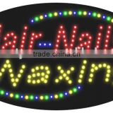 Hair nail and waxing LED Sign beauty SPA adviterising sign for the beauty salon nail shops OEM is welcome
