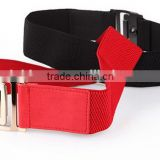 new fashion casual all-match ladies and women button buckle black and red wide waist belt for thick garment