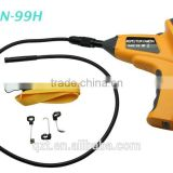"Snake Borescope 180 Rotation 10mm Diameter + 1M Cable 3.5"" Industrial Video Inspection Waterproof endoscope Camera"