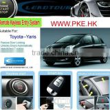Remote Keyless Entry Push Start Button System with Upgrade Car Alarm System for Toyta Yaris