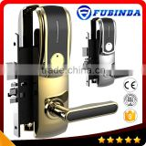 rfid card security handle safe electronic hotel smart keyless digital door lock system