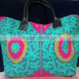 New Stylish Suzanni embroidery Large shopping bag Tote Fashionable ladies bag