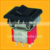 pcb mounting rocker switch,spring return on off on rocker switch 3 position