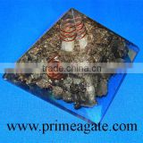 Orgone Golden Pyrite Pyramid With Charge Crystal Point | Orgonite for sale | Khambhat Agate Exports