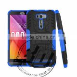 Best Quality armor rugged kickstand heavy duty TPU+PC 2 in 1 case For Asus Zenfone 2 Laser ZE601kL fast delivery