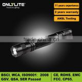 Brightest led Working flashlight running 2*AA dry battery
