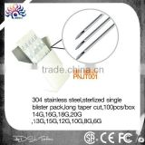 Sterile Body Piercing Needles 6G,8G,10G,12G,13G,14G,15G,16G,18G20G,100 pcs sterile body piercing needle set for tool kit