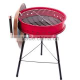 Kettle ceramic charcoal bbq grill with cover and 2 wheel for easy moving