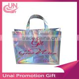 Beautiful Rainbow Bling Bling Color Recyclable Sewing Non Woven Shopping Bag , Recycle Cloth Bag , Non-woven Bag