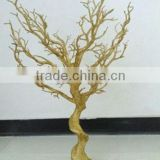 K28G Hot wholesale gold mini plastic christmas trees , wedding wishing tree , manzanita tree wedding