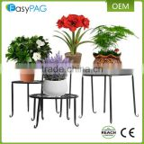 Wholesale 4 size wrought iron metal wire wall mounted flower pot holder