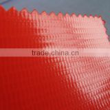 red 100% polyester yarn with pvc coating,fire retardant/flame retardant,UV protection,PVC tarpaulin sheet