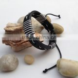 Fashion 2015 new design of hot sales hand woven cow leather bracelet in DongGuan factory