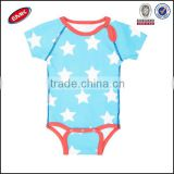 summer soft cotton sky blue baby romper sets printed star baby boy romper clothing