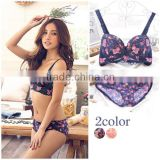 Wholesale Comfortable Breathable Sexy Bra Set, New Design Breathable Sexy Bra, Floral Ladies Bra and Panty Design