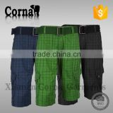 Waterproof plus size eco-friendly polyester men summer sport cargo short pants made in China